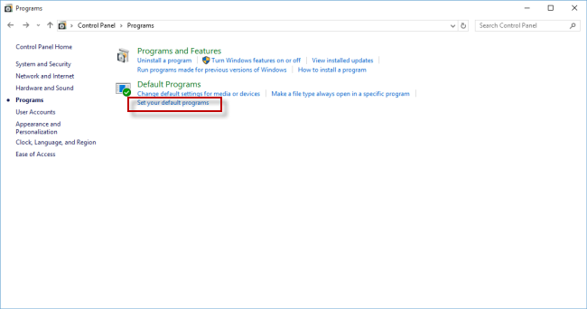 Windows 10: How do I set default programs?   UMUC